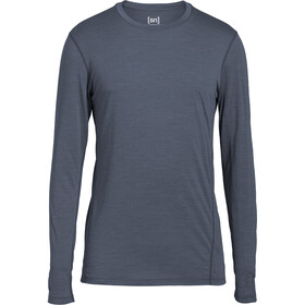 super.natural Base LS 175 Shirt Men Quiet Shade Melange
